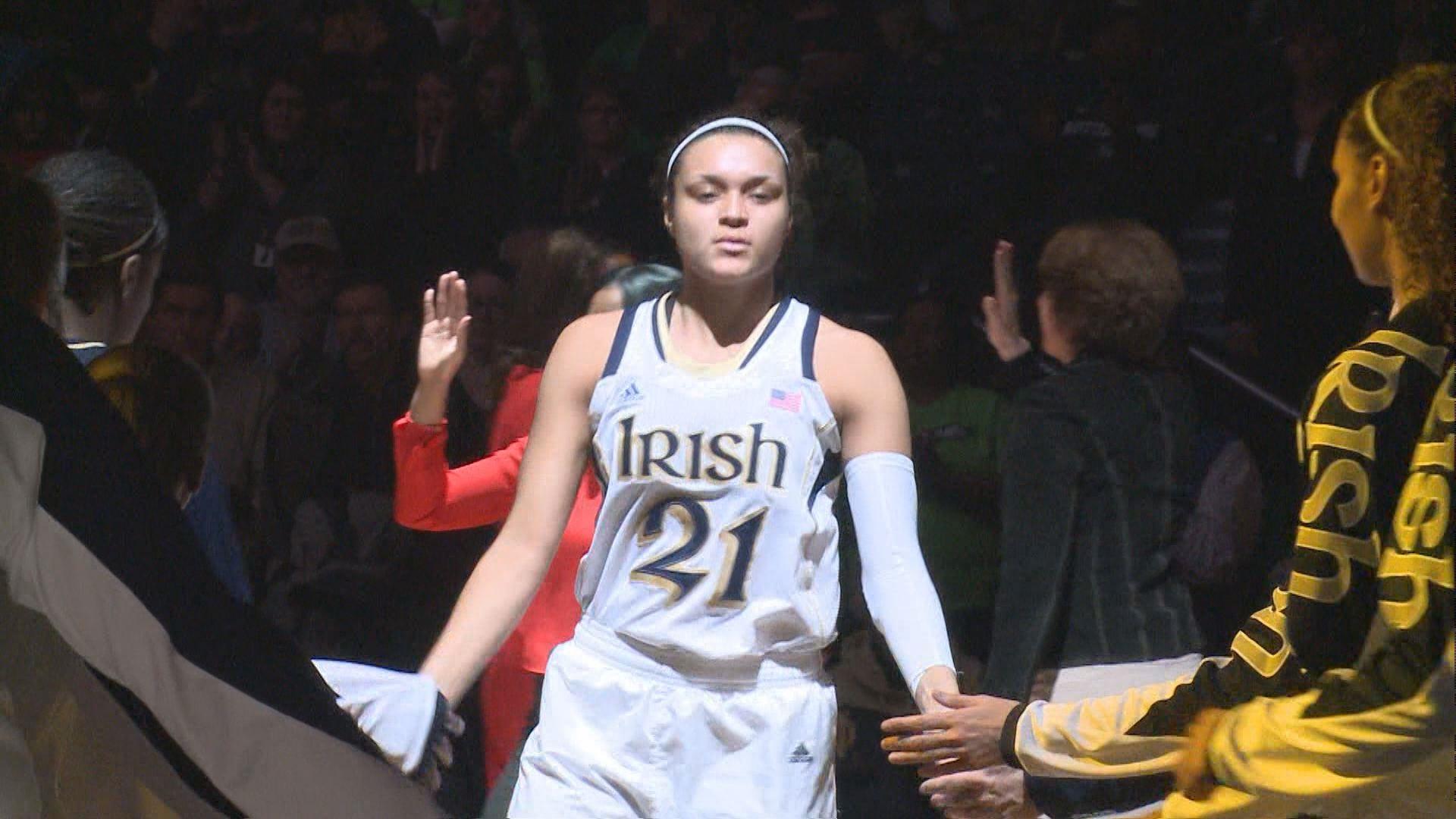 La etapa universitaria de Kayla McBride en Notre Dame